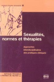 Sexualites Normes Et Therapies Approches Interdisciplinaires Des Pratiques Cliniques - Intérieur - Format classique