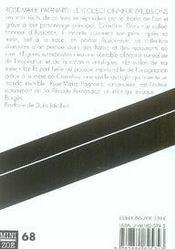 Le collectionneur d'illusions - 4ème de couverture - Format classique