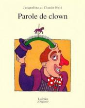 Parole de clown - Couverture - Format classique
