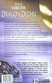 Dragon dechu - 4ème de couverture - Format classique