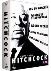 Hitchcock - Le Maître Du Suspense : Les 39 Marches + Quatre De L'Espionnage + Agent Secret + Jeune Et Innocent + Une Femme Disparaît - Couverture - Format classique