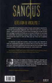 Sanctus - 4ème de couverture - Format classique