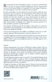 Les derniers moments de Napoléon - 4ème de couverture - Format classique