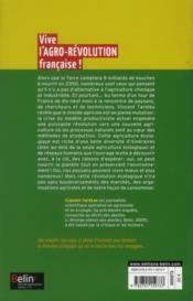 Vive l'agro-révolution française ! - 4ème de couverture - Format classique