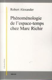 Phénomenologie de l'espace-temps chez Marc Richir - Couverture - Format classique