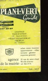Le Plani-Vert Guide - Indicateurs De Banlieue - Chaville - Ville D'Avray - Velizi - Villacoublay - Viroflay - Couverture - Format classique