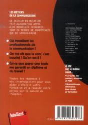 Les métiers de la communication (18e édition) - 4ème de couverture - Format classique