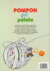 Pompon, fil, pelote - 4ème de couverture - Format classique