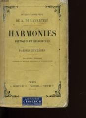 Harmonies Poetiques Et Religieuses Et Poesies Diverses. - Couverture - Format classique