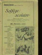 Solfege Scolaire - Couverture - Format classique