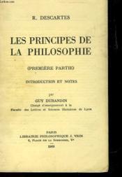 Les Principes De La Philosophie - Premiere Partie - Couverture - Format classique