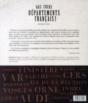 Nos chers départements français ! - 4ème de couverture - Format classique
