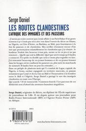 Les routes clandestines - 4ème de couverture - Format classique