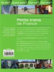 GEOBOOK ; petits trains de France - 4ème de couverture - Format classique