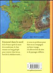 Le voyage du chat à travers la France - 4ème de couverture - Format classique
