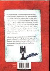 The Death'S Head Chess Club - 4ème de couverture - Format classique