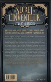 Le secret de l'inventeur t.2 ; l'énigme du magicien - 4ème de couverture - Format classique