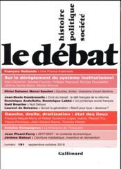 Revue Le Débat N.191 ; septembre 2016 - Couverture - Format classique