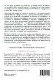 RIVENEUVE CONTINENTS N.26 ; écritures de la révolution et de la guerre d'Espagne - 4ème de couverture - Format classique