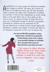 Agatha Raisin enquête T.19 ; la kermesse fatale - 4ème de couverture - Format classique