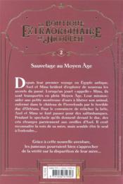 La boutique extraordinaire de Nicodème T.2 ; sauvetage au Moyen Age - 4ème de couverture - Format classique