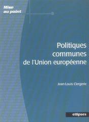 Politiques Communes De L'Union Europeenne - Intérieur - Format classique