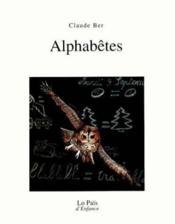 Les alphabètes - Couverture - Format classique