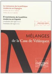 Revue mélanges N.35/1 ; la naissance de la politique moderne en Espagne (milieu du XVIIIe siècle - milieu du XIXe siècle). - Couverture - Format classique