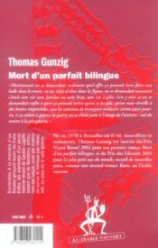 Mort d'un parfait bilingue - 4ème de couverture - Format classique