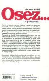 OSEZ ; le préservatif - 4ème de couverture - Format classique
