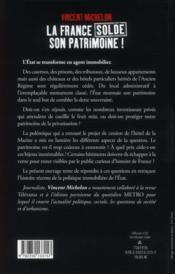 La France solde son patrimoine ! - 4ème de couverture - Format classique