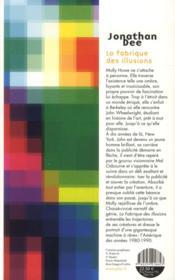 La fabrique des illusions - 4ème de couverture - Format classique