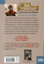 Garin Trousseboeuf T.1 ; l'inconnu du donjon - 4ème de couverture - Format classique