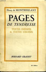 Pages De Tendresse. Textes Inedits Et Textes Choisis. - Couverture - Format classique