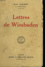 Lettres De Wiesbaden. - Couverture - Format classique