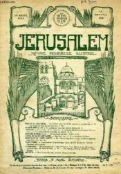 JERUSALEM, 25e ANNEE, N° 154, MARS-AVRIL 1930, REVUE MENSUELLE ILLUSTREE - Couverture - Format classique