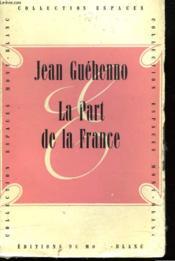 La Part De La France - Couverture - Format classique