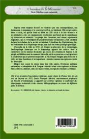 Le crépuscule des levantins de Smyrne ; étude historique d'une communauté - 4ème de couverture - Format classique