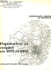 Population Et Emploi En 1975 Et 1985 - Couverture - Format classique