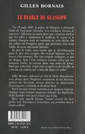 Le diable de glasgow - 4ème de couverture - Format classique