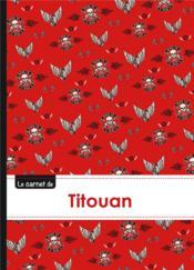 Carnet Titouan Lignes,96p,A5 Bikers - Couverture - Format classique