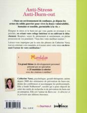 Mandalas bien-être ; anti-stress, anti-burn-out - 4ème de couverture - Format classique