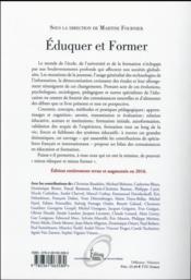Éduquer et former ; connaissances et débats en éducation et formation - 4ème de couverture - Format classique