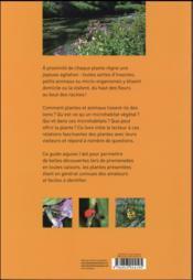 Fleurs et insectes ; découvrir 80 plantes et leurs hôtes - 4ème de couverture - Format classique
