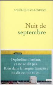 Nuit de septembre - Couverture - Format classique