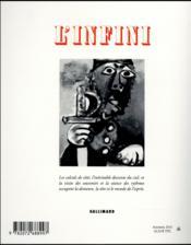 Revue L'Infini N.137 - 4ème de couverture - Format classique