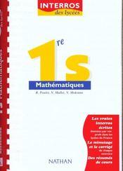 Interros Lycee Maths 1ere S - Intérieur - Format classique