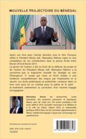 Nouvelle trajectoire du Sénégal ou la défense de la vision du Président Macky Sall - 4ème de couverture - Format classique