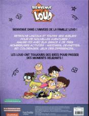 Bienvenue chez les Loud ; le grand livre des Loud t.2 - 4ème de couverture - Format classique