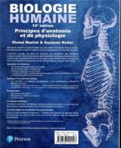 Biologie humaine (12e édition) - 4ème de couverture - Format classique